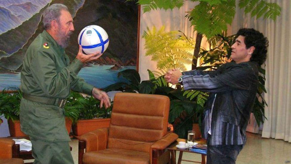 Fidel Castro y Diego Armando Maradona. Foto: AFP Getty
