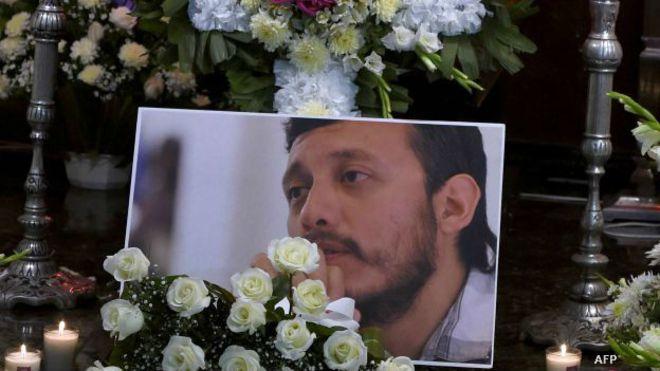 Funeral de Rubén Espinosa, fotoreportero asesinado en México. Foto: AFP/Getty