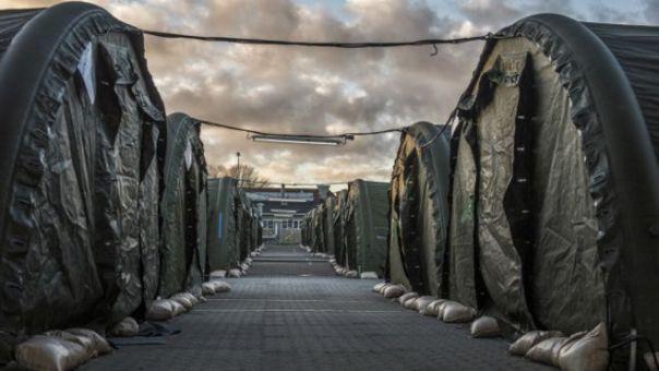 Un campo de refugiados a las afueras de Copenhaguen.