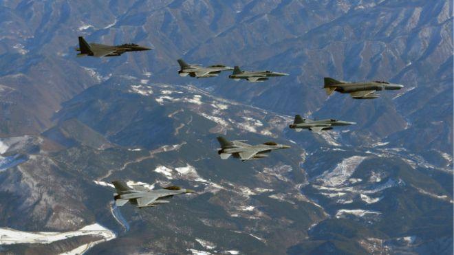 Tập trận ở Hàn Quốc