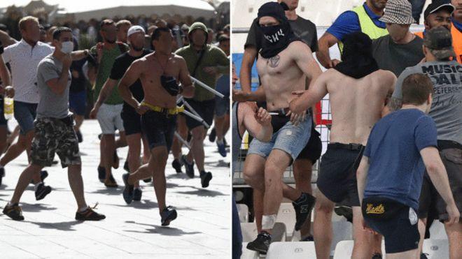 Cổ động viên Nga xô xát tại giải Euro 2016