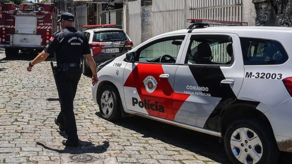 File photo of police officers in Sao Paulo, Brazil