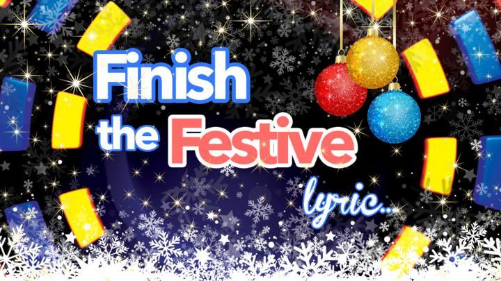 Quiz Finish The Festive Lyric CBBC BBC