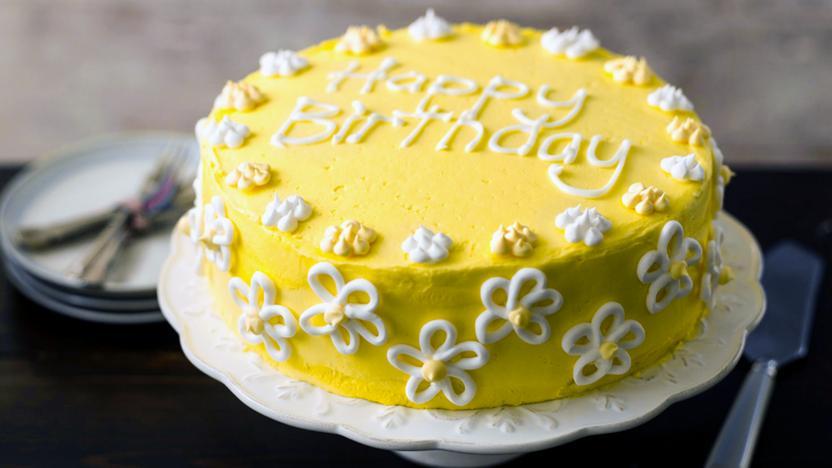 Flowery Birthday Cake Recipe Bbc Food