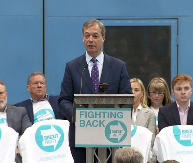 Nigel Farage Launches Brexit Party Ahead Of European Elections