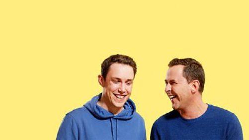 Scott Mills and Chris Stark taking part in Radio 1 LOLathon for red nose day