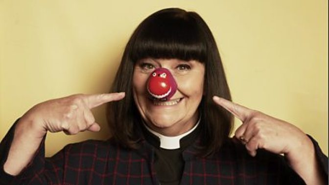 Geraldine Granger (Dawn French) appearing on Comic Relief Red Nose Day 2021