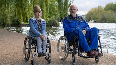 Helena (Ruth Madeley), Paul 'Wicky' Wickstead (Greg Davies)