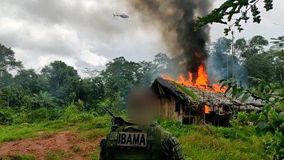 Amazon police battle to protect Brazil rainforest