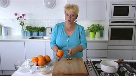 Zesting citrus fruit