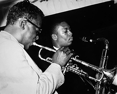 Miles Davis and John Coltrane, circa 1958