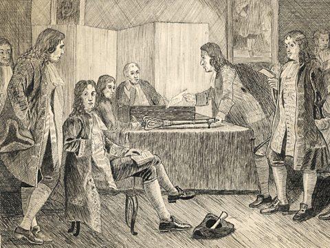 Royal Society meeting 1660