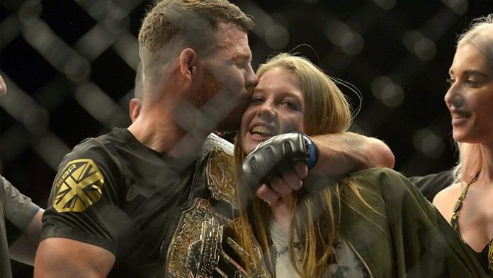 Michael Bisping with his family