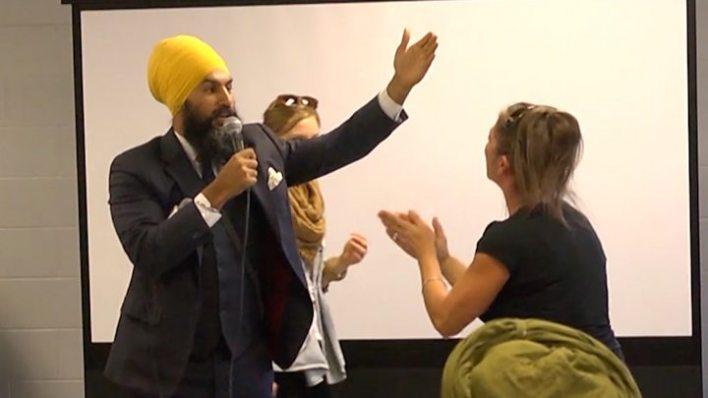 p05ftkgq - Canada's New Democrats elect Jagmeet Singh as party leader
