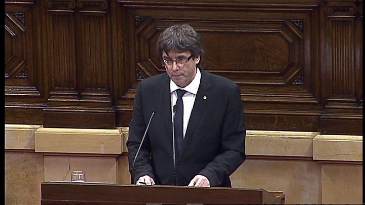 Catalan leader seeks talks to secure independence