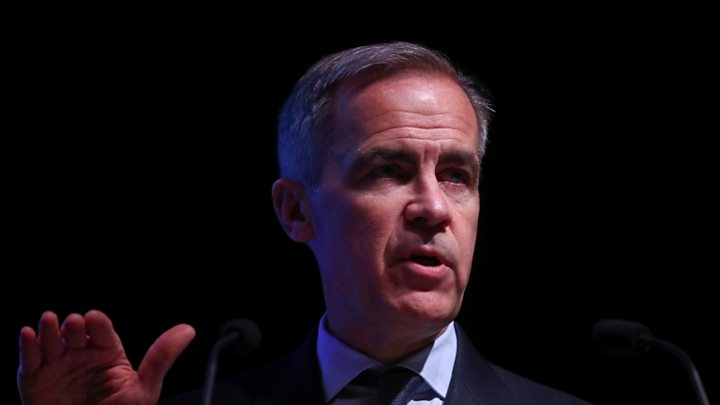 p070nsgd Brexit: Mark Carney warns of no-deal 'economic shock'
