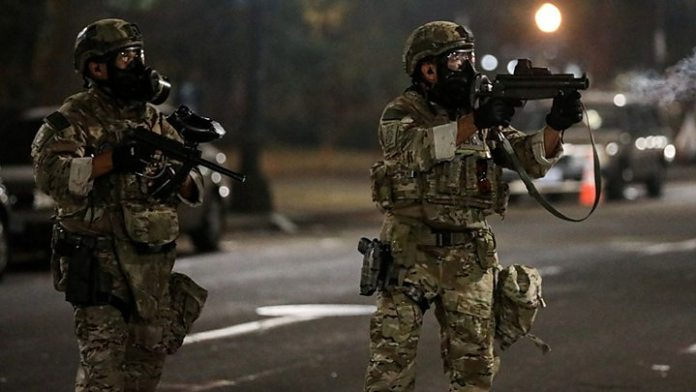Portland protests: Calls for federal troops to leave US city