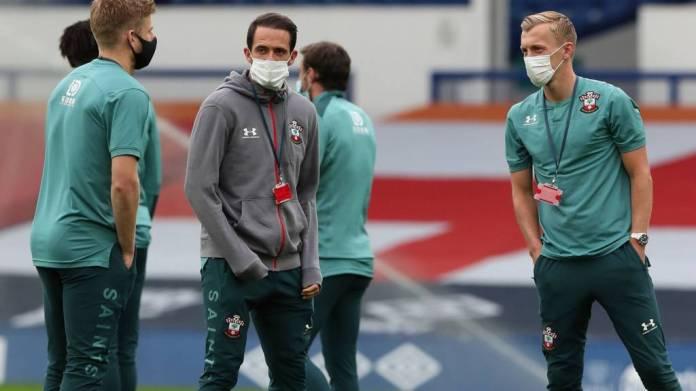 Southampton players pre-match