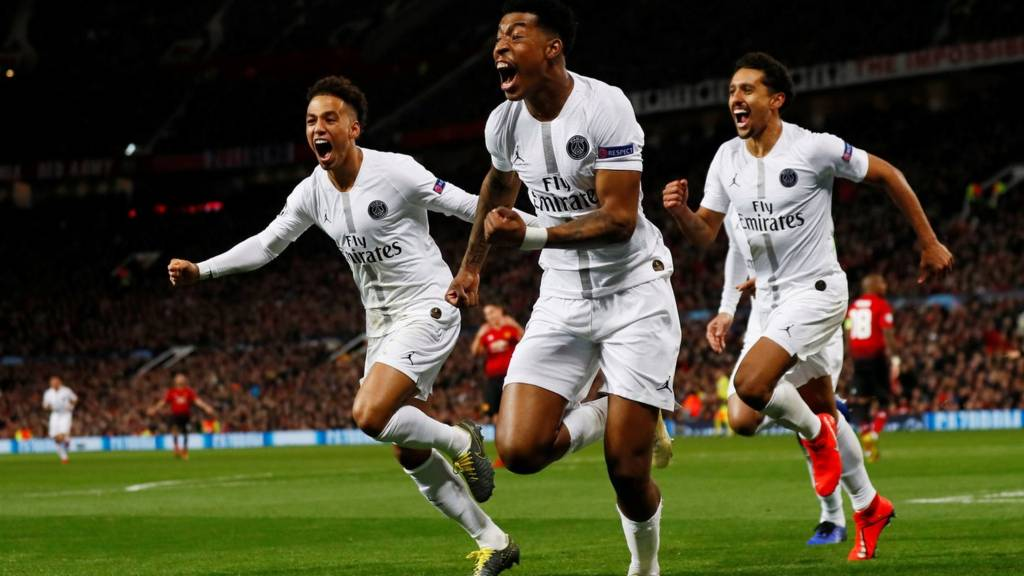 Image result for man united vs psg substitution