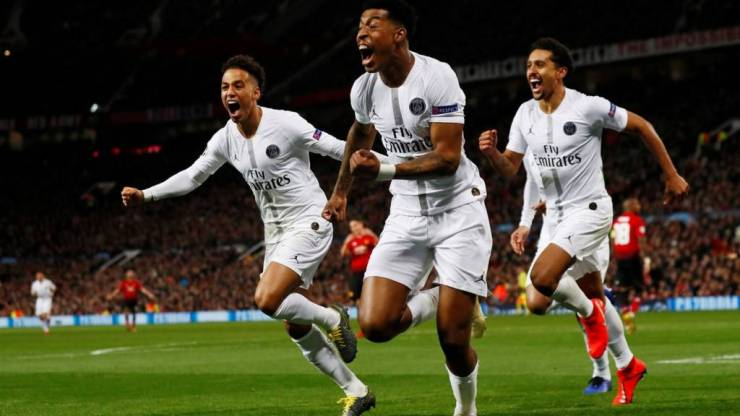 Image result for psg vs man utd match report  Manchester United injury update: Anthony Martial and Jesse Lingard could miss next Champions League match  105624282 kimpembeceleb reuters
