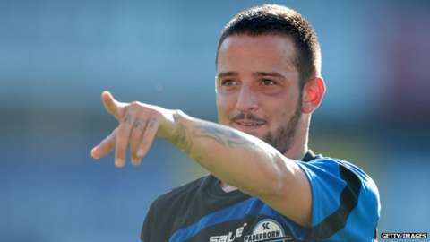 Deniz Naki playing for SC Paderborn