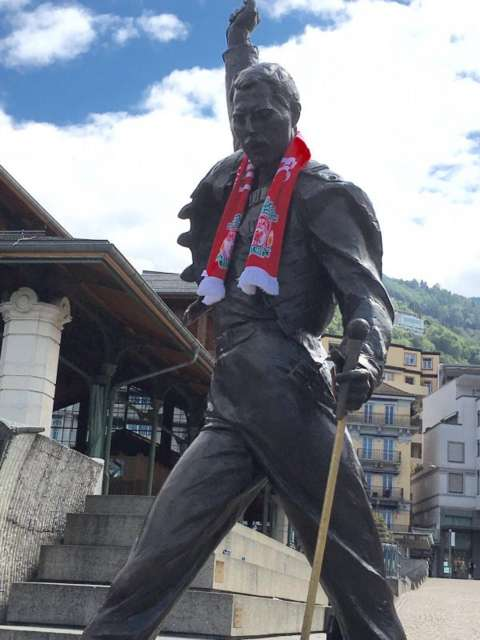@BBCSport Road to Basel part 1 - Freddie Mercury statue in Montreux. #bbcsportsday