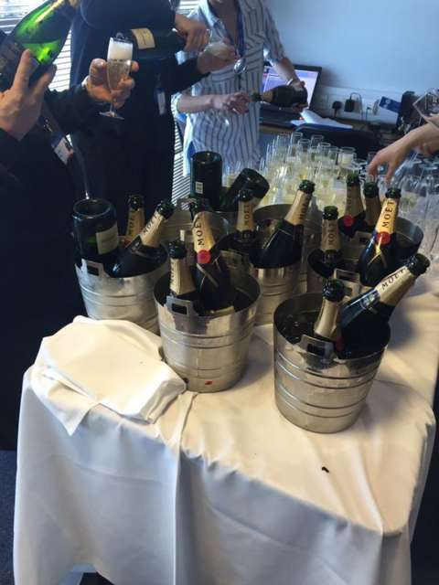 Champagne for Claudio's sharks. Well done Leicester. I do feel we've all played a part in this.