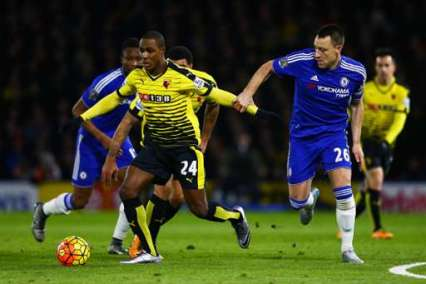 Watford's Odion Ighalo and Chelsea's John Terry