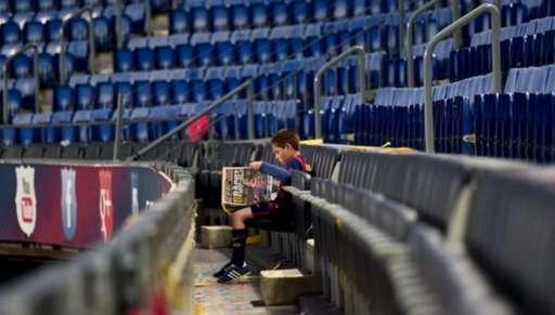 A kid at the Nou Cap