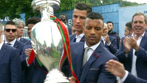 Portugal with the Euro 2016 trophy.