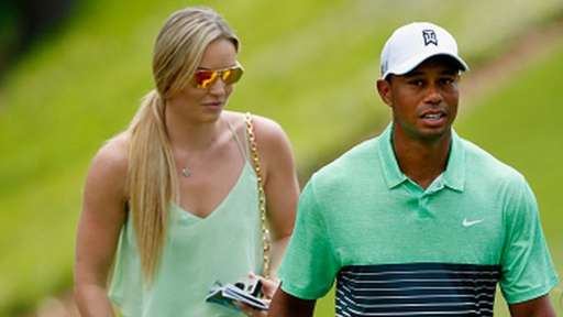 Tiger Woods with Lindsey Vonn