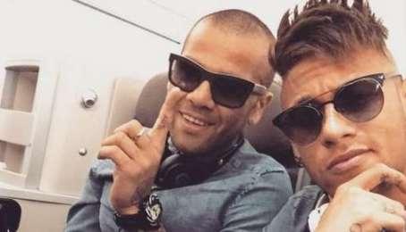 Dani Alves and Neymar