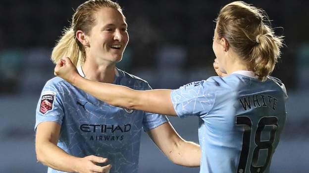 Women's FA Cup: Manchester City Women 2-1 Arsenal Women - Sam Mewis nets winner 1