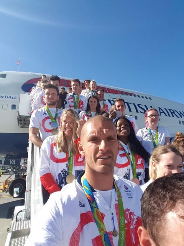 Medal winners selfie! #greattobeBAck