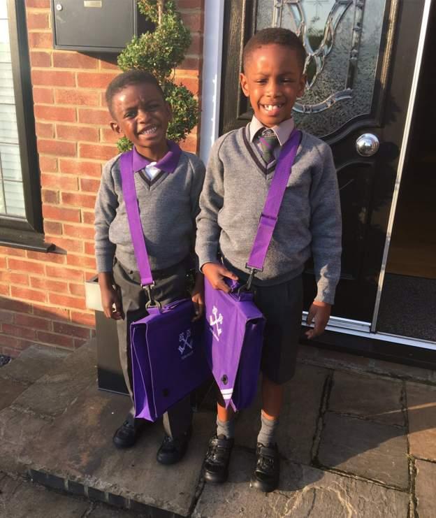 Back to school🙏#happyboys#schoolruns#prouddad😍