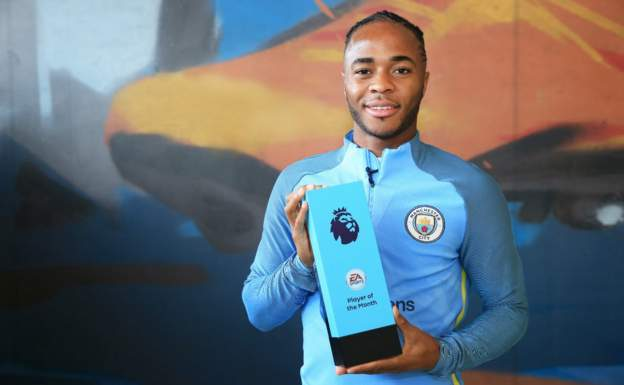 Man City's @sterling7 named @EASPORTSFIFA Player of the Month for August: preml.ge/DVOlcH