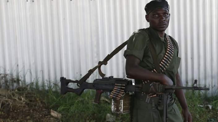 A loyalist soldier in Bujumbura, Burundi