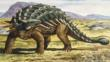 Ankylosaurus armed with thick skin, bony plates and a club like tail