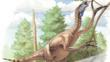 Therizinosaurus cheloniformis a dinosaur that lived in Mongolia, Khazakhstan and Transbaykalia during the late Cretaceous