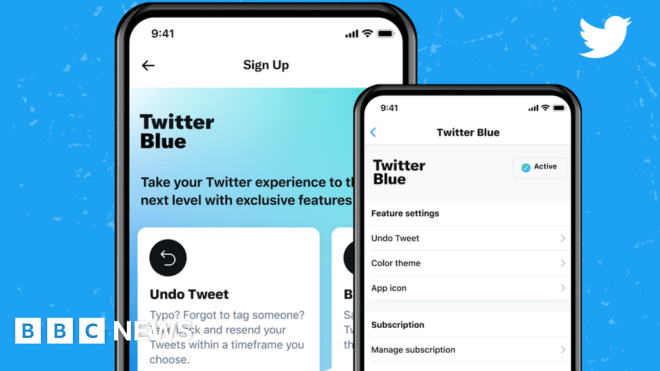 Twitter Blue subscription service launches in Australia and Canada #world #BBC_News