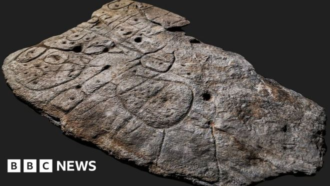 Bronze Age slab found in France is oldest 3D map in Europe #world #BBC_News