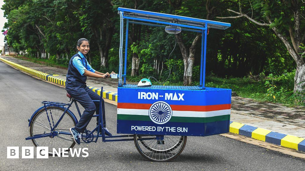 , Climate change in India: The young inventor's solar-powered ironing cart, The Habari News