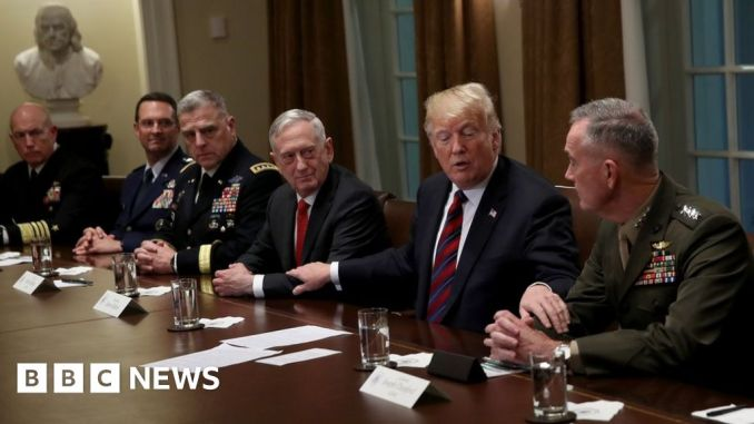 Why did Trump's love affair with US generals turn sour? - BBC News
