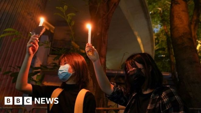 Hong Kong Tiananmen Square commemorations: In Pictures #world #BBC_News