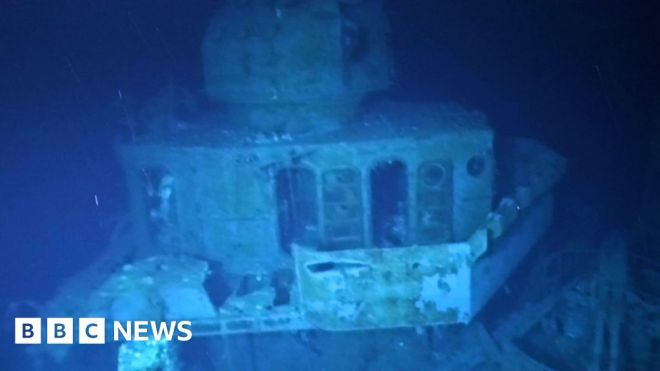 USS Johnston: Sub dives to deepest-known shipwreck #world #BBC_News