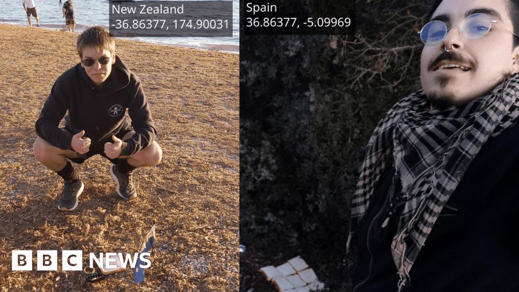 'Earth sandwich' made by two men 20,000 km away