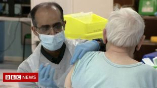 Covid: nearly 2 million people in the UK got their first Covid vaccine last week – bbc news