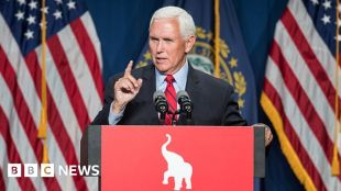 Mike Pence: Hecklers brand ex-VP 'traitor' at conservative conference #world #BBC_News