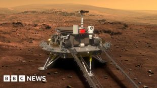 China lands its Zhurong rover on Mars #world #BBC_News