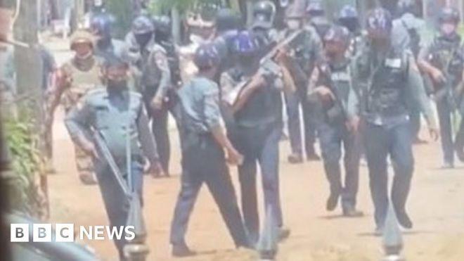 Myanmar: 'Dozens killed' in military crackdown in Bago #world #BBC_News